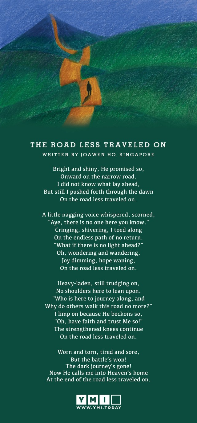 Poem: The Road Less Traveled On – YMI